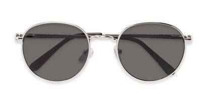 Folded of Phillips #7563 in Silver Frame with Grey Lenses