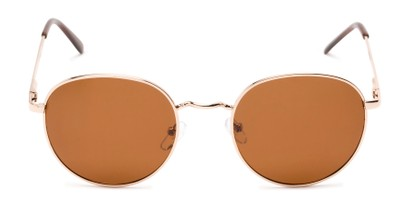 Front of Phillips #7563 in Gold Frame with Amber Lenses
