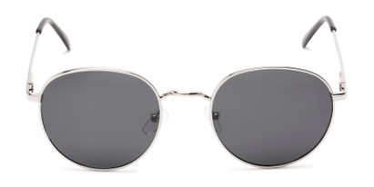 Front of Phillips #7563 in Silver Frame with Grey Lenses