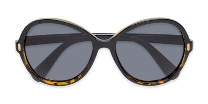 Folded of Piper #3869 in Black/Tortoise Frame with Grey Lenses