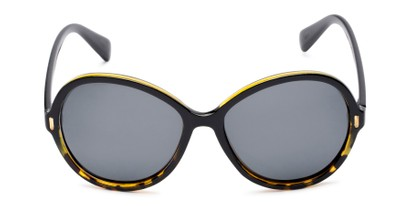 Front of Piper #3869 in Black/Tortoise Frame with Grey Lenses