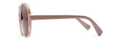 Side of Piper #3869 in Light Pink/Clear Frame with Amber Lenses