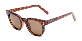 Angle of Porter #32074 in Tortoise Frame with Amber Lenses, Women's and Men's Retro Square Sunglasses