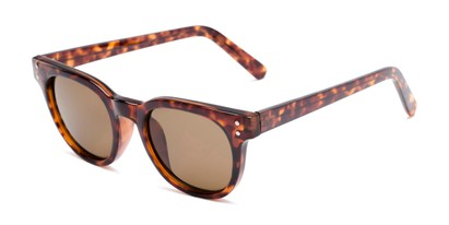 Angle of Porter in Tortoise Frame with Amber Lenses, Women's and Men's Retro Square Sunglasses