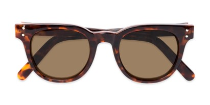 Folded of Porter in Tortoise Frame with Amber Lenses