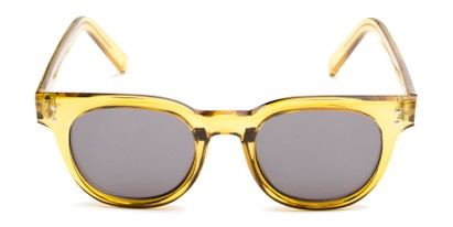 Front of Porter in Clear Yellow Frame with Grey Lenses