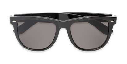 Folded of Portland #1108 in Black Frame with Grey Lenses