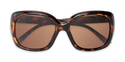 Folded of Portugal #1015 in Dark Tortoise Frame with Amber Lenses