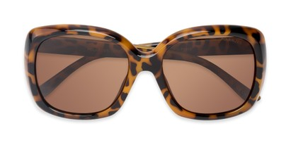 Folded of Portugal #1015 in Light Tortoise Frame with Amber Lenses