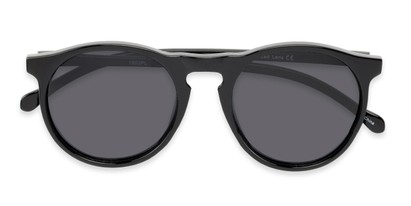 Folded of Potrero #16030 in Glossy Black Frame with Grey Lenses