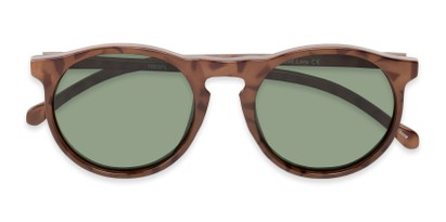Folded of Potrero #16030 in Glossy Tortoise Frame with Green Lenses