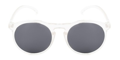 Front of Potrero #16030 in Glossy Clear Frame with Grey Lenses