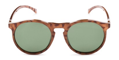 Front of Potrero #16030 in Glossy Tortoise Frame with Green Lenses