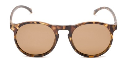 Front of Potrero #16030 in Matte Light Tortoise Frame with Amber Lenses