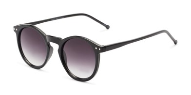 523244d08 Angle of Preston #9727 in Glossy Black Frame with Smoke Lenses, Women's and  Men's