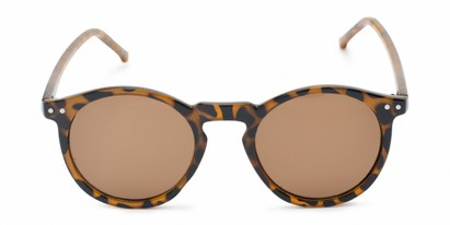 Front of Preston #9727 in Glossy Tortoise Frame with Amber Lenses