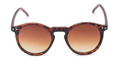 Front of Preston #9727 in Matte Tortoise Frame with Amber Faded Lenses