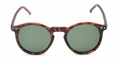 Front of Preston #9727 in Matte Tortoise Frame with Green Lenses
