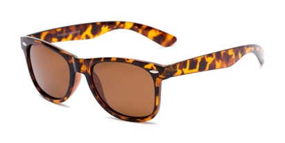 Angle of Rambler #1188 in Tortoise Frame with Amber Lenses, Women's and Men's Retro Square Sunglasses