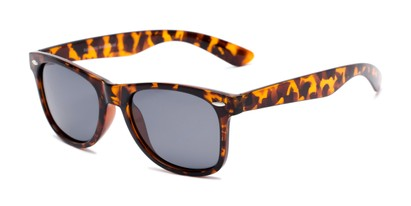 Angle of Rambler #1188 in Tortoise Frame with Smoke Lenses, Women's and Men's Retro Square Sunglasses