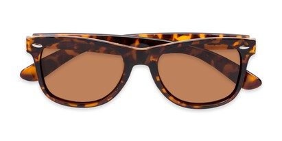 Folded of Rambler #1188 in Tortoise Frame with Amber Lenses