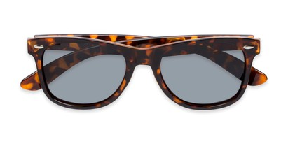 Folded of Rambler #1188 in Tortoise Frame with Smoke Lenses