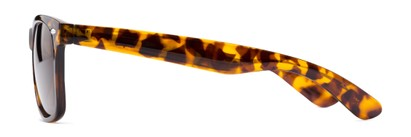 Side of Rambler #1188 in Tortoise Frame with Amber Lenses