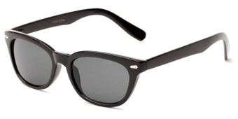 Angle of Ravine #2002 in Black Frame, Women's Retro Square Sunglasses