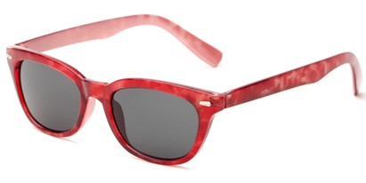 Angle of Ravine #2002 in Red Tortoise Frame, Women's Retro Square Sunglasses