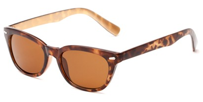 Angle of Ravine #2002 in Brown Tortoise Frame, Women's Retro Square Sunglasses