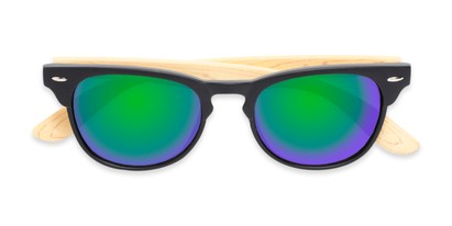 Folded of Rawlins #54090 in Black/Tan Frame with Green/Purple Mirrored Lenses