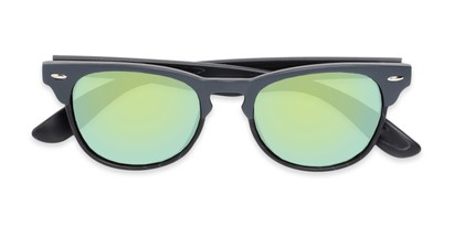 Folded of Rawlins #54090 in Grey/Black Frame with Green Mirrored Lenses