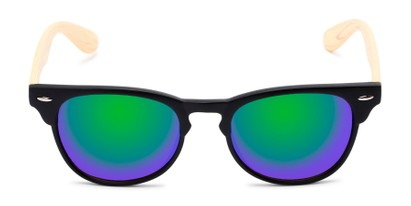 Front of Rawlins #54090 in Black/Tan Frame with Green/Purple Mirrored Lenses