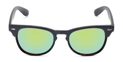 Front of Rawlins #54090 in Grey/Black Frame with Green Mirrored Lenses