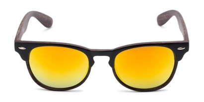 Front of Rawlins #54090 in Black/Dark Brown Frame with Orange Mirrored Lenses