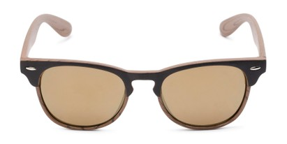 Front of Rawlins #54090 in Brown/Light Brown Frame with Gold Mirrored Lenses