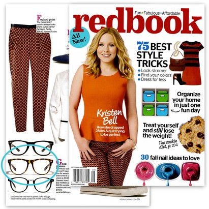 Nerd Glasses in Redbook Magazine