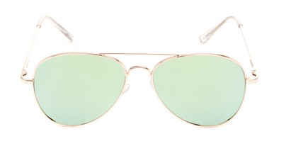 brightly mirrored aviator
