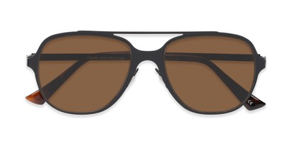 Folded of Rex #4378 in Black Frame with Amber Lenses