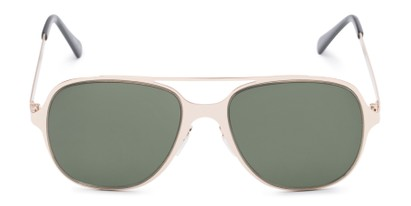 Front of Rex #4378 in Gold Frame with Green Lenses