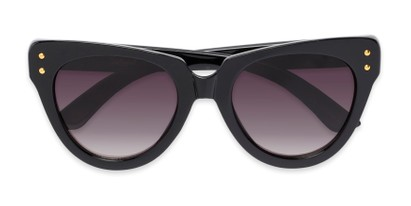 Folded of Roane #34121 in Black Frame with Smoke Lenses