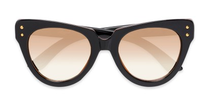 Folded of Roane #34121 in Black/Brown Frame with Yellow Lenses