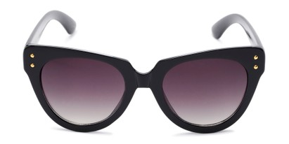 Front of Roane #34121 in Black/Clear Frame with Smoke Lenses