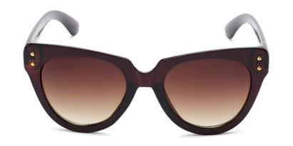 Front of Roane #34121 in Brown Frame with Amber Lenses