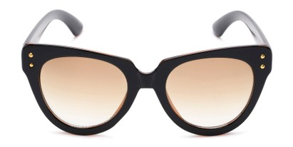 Front of Roane #34121 in Black/Brown Frame with Yellow Lenses
