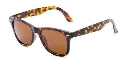 Angle of Rockingham #1077 in Tortoise Frame with Amber Lenses, Women's and Men's Retro Square Sunglasses