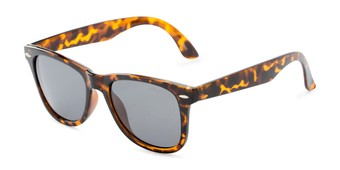 Angle of Rockingham #1077 in Tortoise Frame with Smoke Lenses, Women's and Men's Retro Square Sunglasses