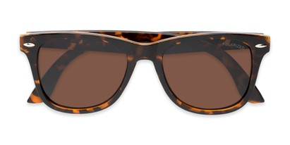 Folded of Rockingham #1077 in Tortoise Frame with Amber Lenses