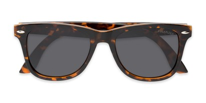 Folded of Rockingham #1077 in Tortoise Frame with Smoke Lenses