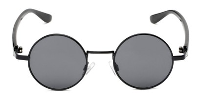 Front of Rounder #706 in Black Frame with Grey Lenses